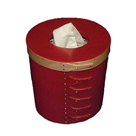 Style Lacquer - Shaker Tissue Box Holder Small in New Lebanon Style and Red Pepper Paint; Lacquer Finish