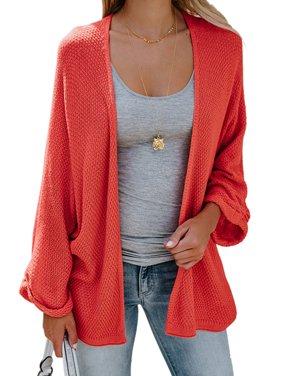 Product Image Women Winter Knit Cardigan Top Long Sleeve Solid Open  Oversized Sweater Outwear Coat Jacket 929d80a5b