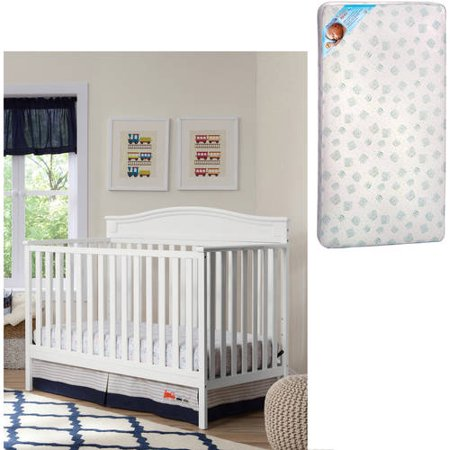 Delta Children;s Products Larkin 4-in-1 Crib and Mattress Value Bundle