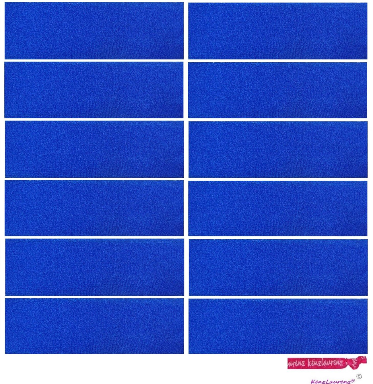 Kenz Laurenz Sweatbands 12 Terry Cotton Sports Headbands Sweat Absorbing Head Bands Blue