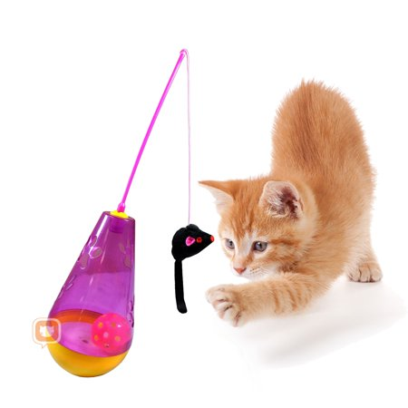 Purrfect feline wacky tumbler interactive cat toy for Cat wand toys