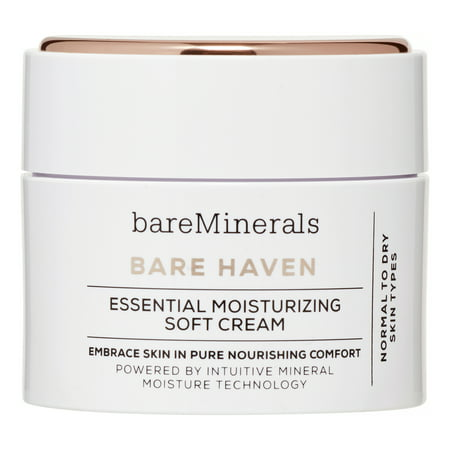 bareMinerals Bare Haven Essential Moisturizing Soft Face Cream, 1.7 Oz