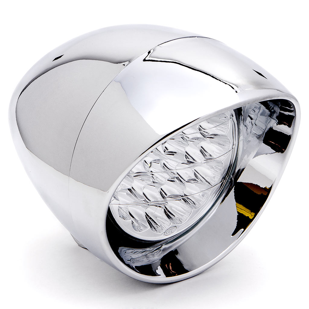"Krator 7"" Chrome LED Headlight Cruiser Daytime Running and Low Beam for Honda VT Shadow Ace Classic 500 700 750 1100 - image 6 of 6"