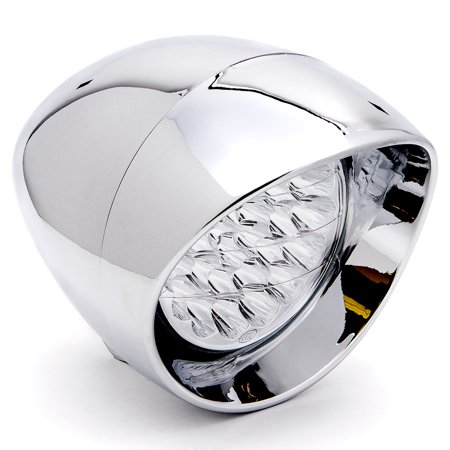 "7"" Chrome LED Headlight Cruiser Daytime Running and Low Beam for Suzuki Savage LS 650 - image 6 de 6"