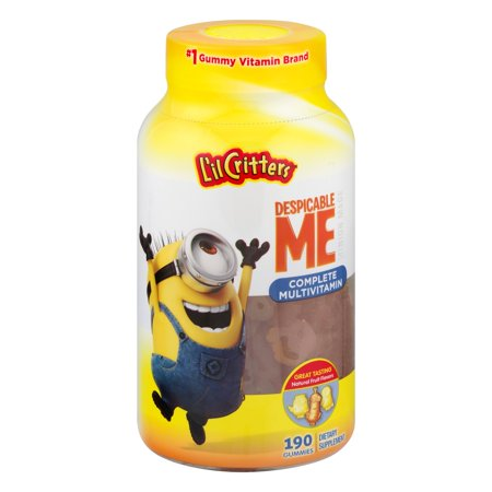 L'il Critters Despicable Me Minions Complete Multivitamin Gummies, Fruit, 190 Ct