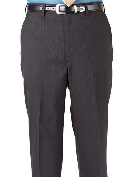 Ed Garments Men's Flat Front Pinstripe Dress Pant, NAVY, 32 34