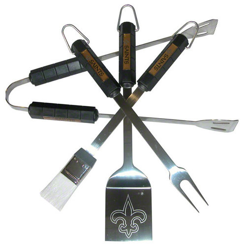 NFL - New Orleans Saints 4 Piece BBQ Set