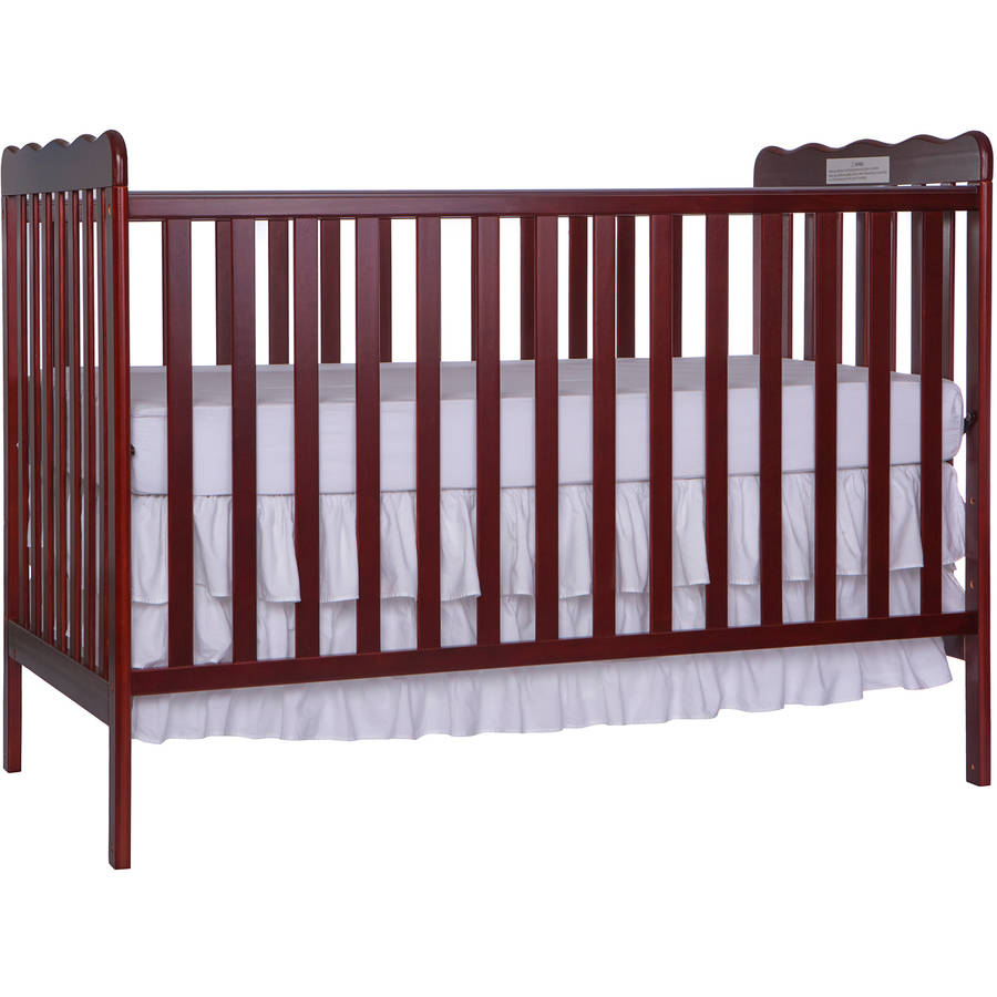 Dream On Me Classic 3-in-1 Convertible Crib - Cherry