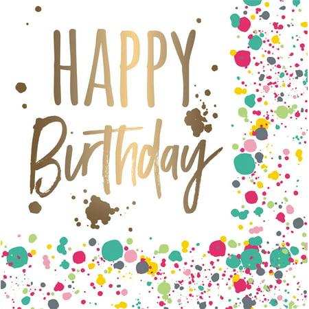 Paper Cocktail Napkin, 20 count, Happy Birthday