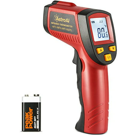 AstroAI Digital Laser Infrared Thermometer, 550 Non-contact Temperature Gun with Range of -58℉~1022℉ (-50℃~550℃), Red