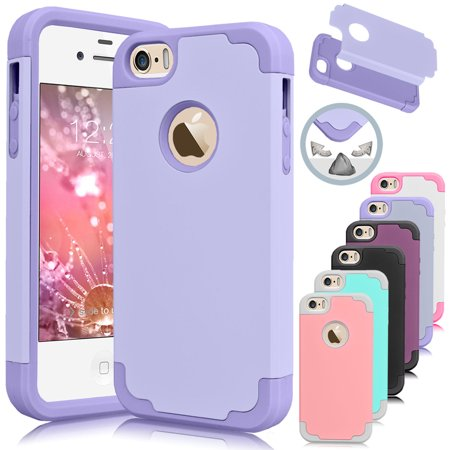 Halloween Iphone 5 Covers (iPhone SE Case, iPhone 5S Case, Njjex [Lavender] Shock Absorbing Hard Slim Thin Cute Cover [Scratch Proof] Plastic Shell+TPU Rubber Inner For iPhone)