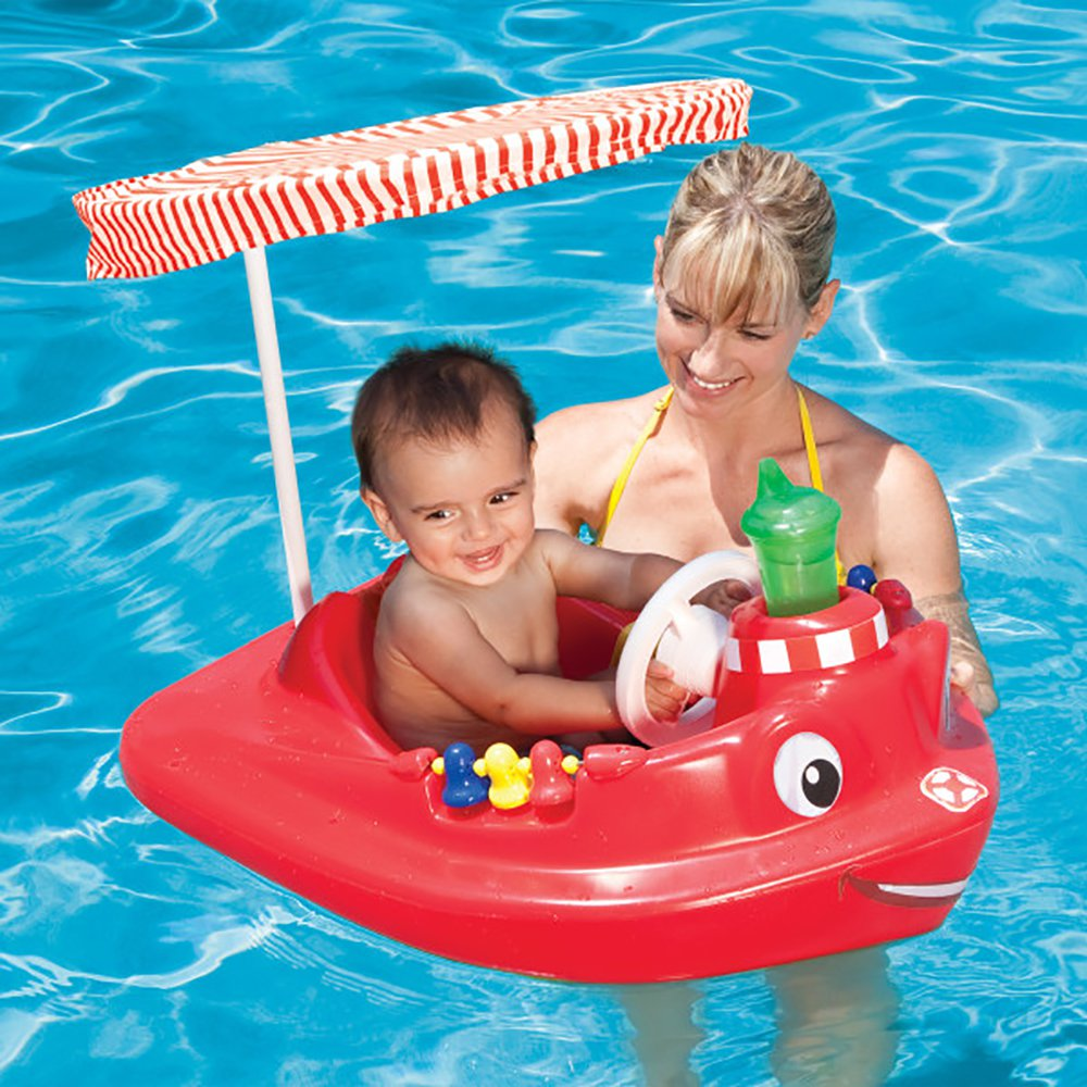 SwimWays Baby Tug Boat with Canopy