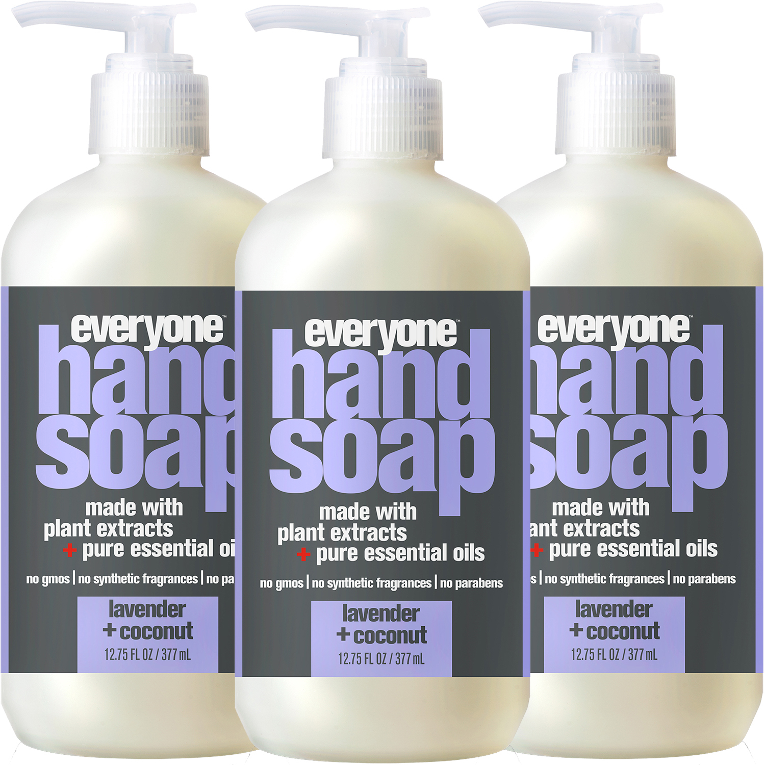 (3 Pack) Everyone™ Lavender & Coconut Hand Soap, Triclosan-Free, 12.75oz.