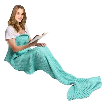 Mermaid Tail Blanket for women Teen and Kids, Made with Fine Crochet Material, Soft and Comfortable for All Season Sleeping Blanket, - Crocheted Blanket
