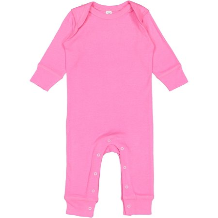 Rabbit Skins 4412 Infant Long Legged Baby Rib - Skin Bodysuit