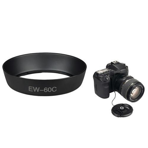 INSTEN EW-60C Replacement Lens Hood + Lens Cap Holder For Canon EOS 60D T3i T2i T1i T3 XTi XT Xsi