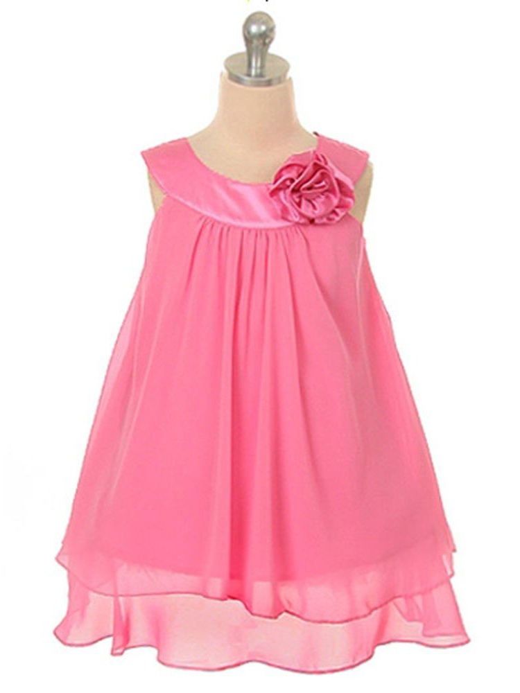 12a502f12 Kids Dream Girls Fuchsia Chiffon A Line Flower Girl Dress 10 ...