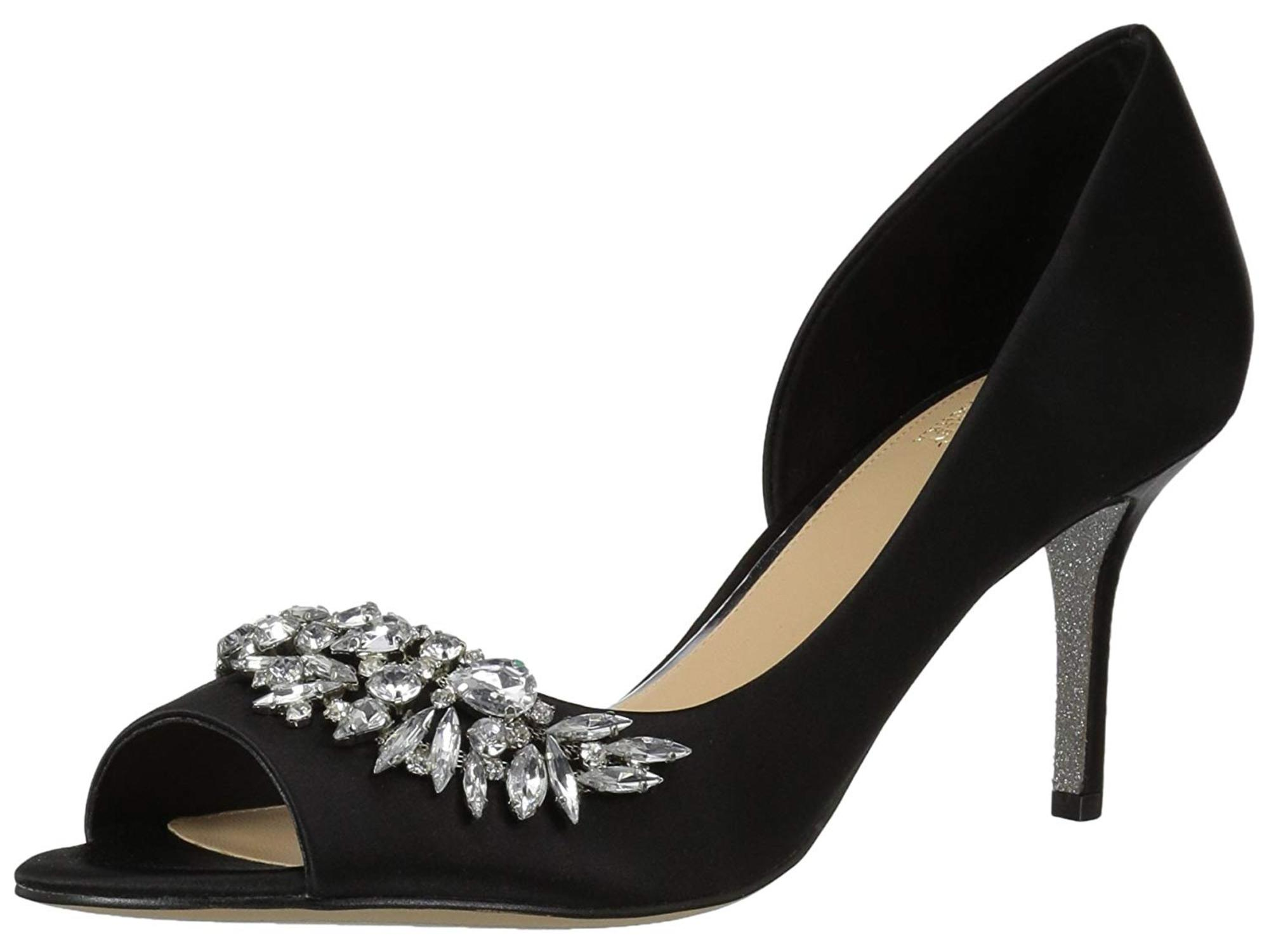 Mark and James BADGLEY MISCHKA Black Dress Pumps Shoes Sparkle NEW!