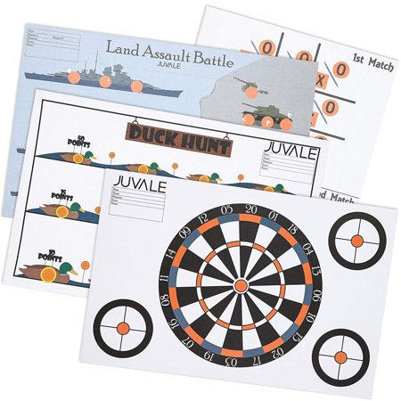 Juvale 40-Sheet Pack Paper Shooting Range Game Targets, 4 Designs, 11 x 17 Inches (Hovering Target Shooting Game)