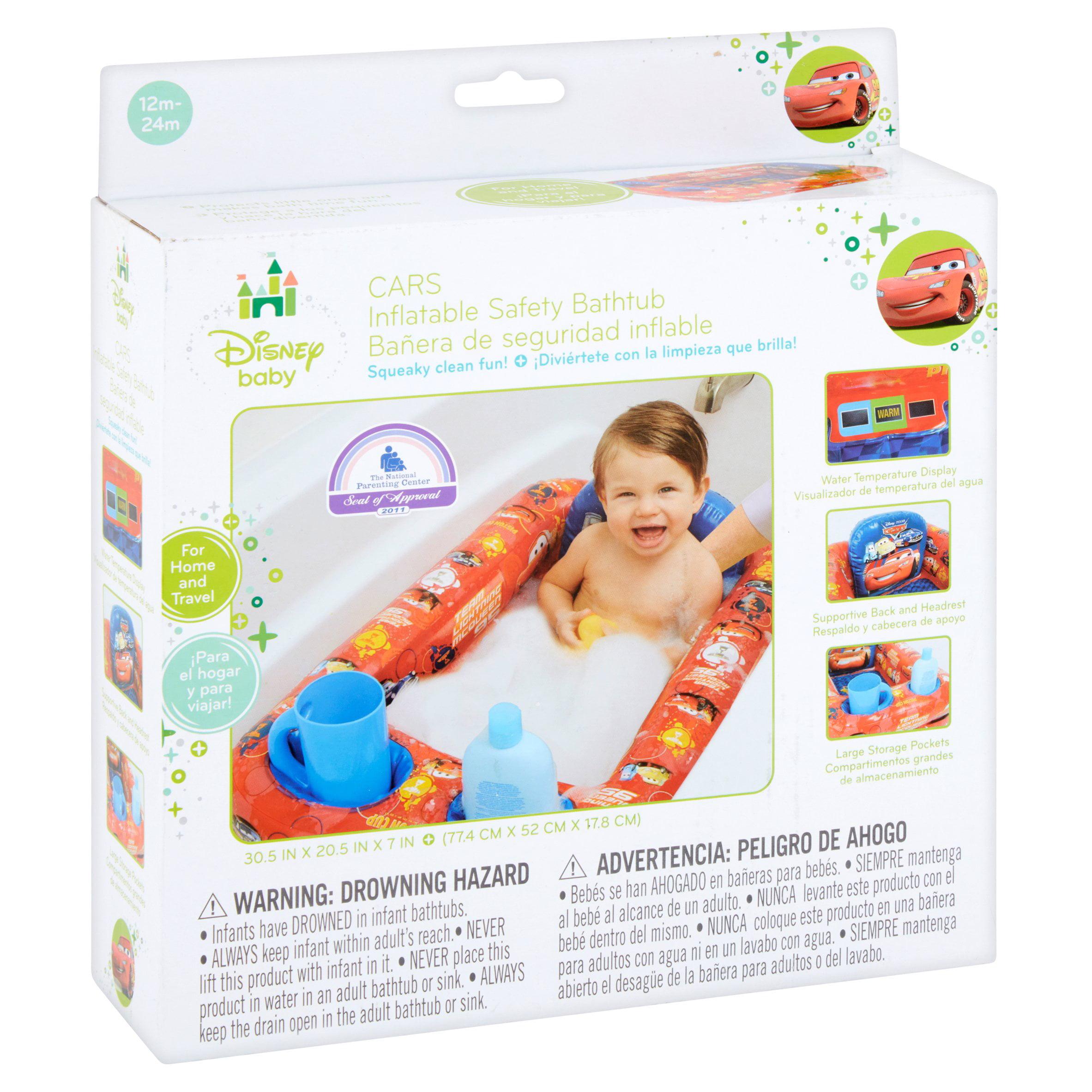 Disney Cars Inflatable Safety Bathtub, Red - Walmart.com