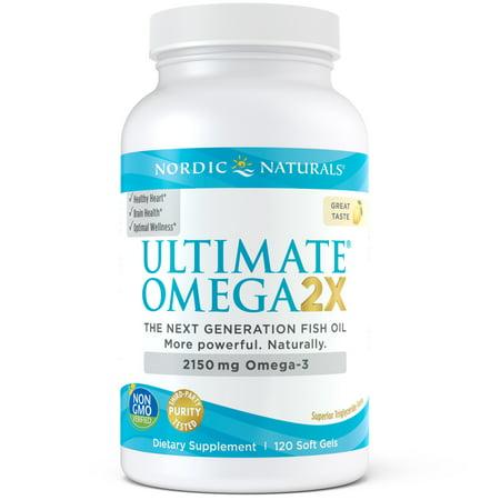 Nordic Naturals Ultimate Omega 2x Softgels, 2150 mg, 120 ct, Lemon Nordic Naturals Omega Woman Lemon
