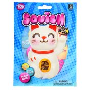 """Toy Network Squishy Lucky Cat Soft and Slow Rising Scented Squishy Toy - 4"""""""