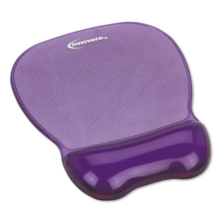 Innovera Gel Mouse Pad w/Wrist Rest, Nonskid Base, 8-1/4 x 9-5/8,