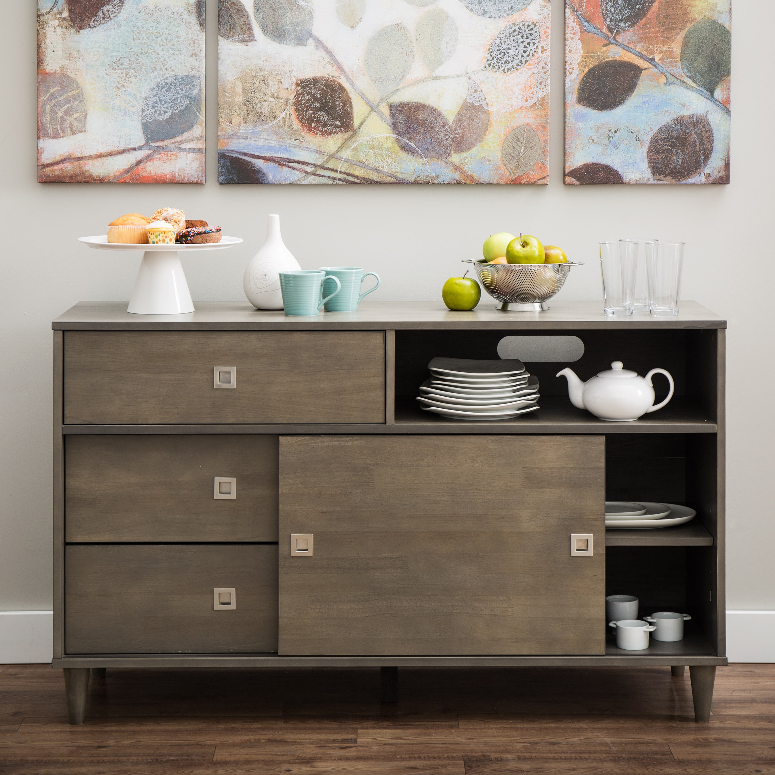 I Love Living Marley Light Charcoal Transitional Buffet