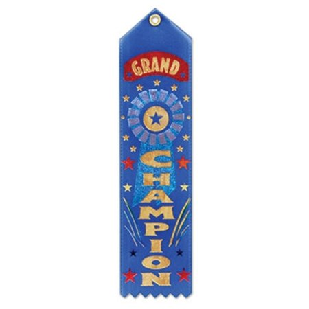 Club Pack of 6 Royal Blue Grand Champion School and Sporting Event Award Ribbons 8