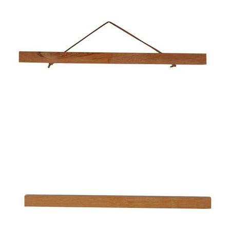 Ywlake Magnetic Poster Hanger 8x10 8x20 8x11 Poster Frame Wood Wooden Magnet Print Posters Dowel Scroll Hanger Hangers Hanging Kit for Walls Map Canvas Artwork Black, 8, 2 Packs