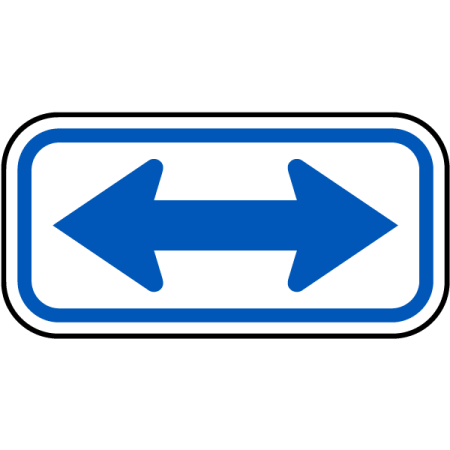 Traffic Signs - Blue Double Arrow Sign 12 x 18 Magnet Sign Street Weather Approved Sign Double Down Arrow Sign