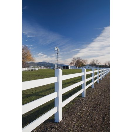Fence at a winery Rutherford Wine Country Napa Valley California USA Stretched Canvas - Panoramic Images (27 x 9)