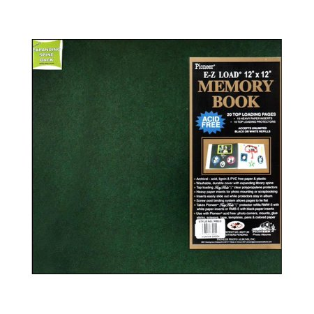 Pioneer Scrapbook 12x12 Leatherette Hunter Green (Leaves 12x12 Scrapbook Paper)