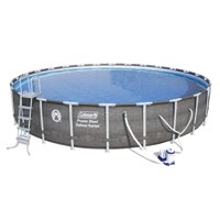 """Coleman Power Steel? 26' x 52"""" Deluxe Series Pool Set with Pump, Ladder and Cover"""