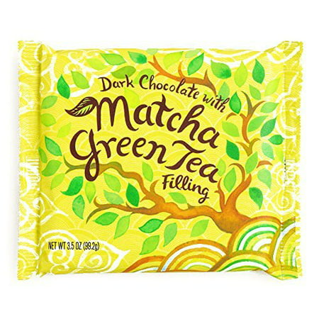 Matcha Green Tea Dark Chocolate Bar 3 oz each (5 Items Per - Green M And M
