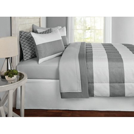 Mainstays Cabana Stripe Bed in a Bag Coordinating Bedding Set