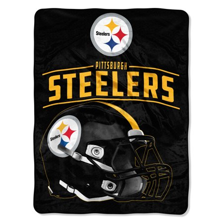 "NFL Pittsburgh Steelers ""Franchise"" Micro Raschel Throw, 46"" X 60""](Steelers Accessories)"