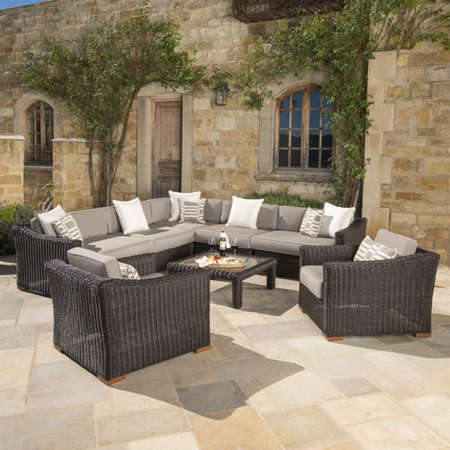 Darby Home Co Monroeville 8 piece Sunbrella Sectional Set with Cushions