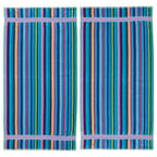 Kaufman Stripe Velour Beach Towel (Set of 2)