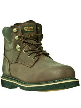 McRae Industrial Work Boots Mens Steel Toe Lacer Brown MR86344