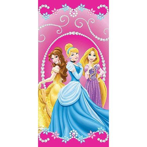Monogrammed Princess Beach Towel: Disney Princess Jewels Beach Towel, Pink
