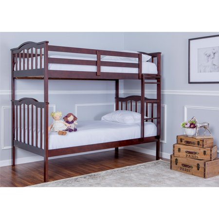 Camp Bunk Box (Dream On Me Cody 2-in-1 Convertible Twin Over Twin Wood Bunk Bed, Espresso, Box 1 of 3)