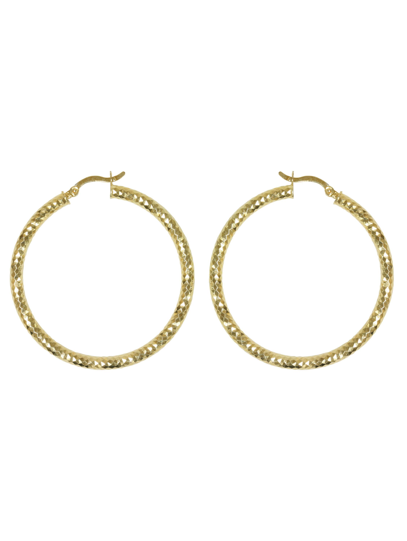 e21cbf50a Forever New Gold Tone Large Diamond Cut Hoop Earrings