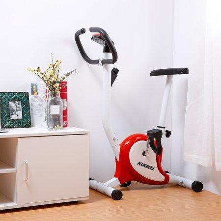 KUOKEL Stable Upright Bike Durable Exercise Bicycle Trainer Bike Cardio Aerobic Equipment For Indoor & Outdoor Adjustable Seat & (Cardio Exercise Equipment)