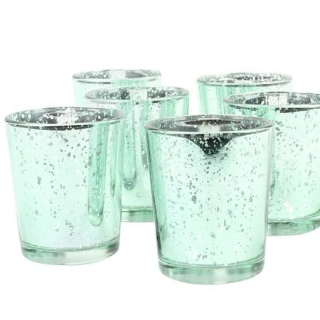 Koyal Wholesale Mint Antique Votive Cups, 12ct
