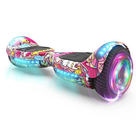 """Flash Wheel Hoverboard 6.5"""" Bluetooth Speaker with LED Light Self Balancing Wheel Electric Scooter - Unicorn"""