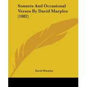 Sonnets and Occasional Verses by David Marples (1882)