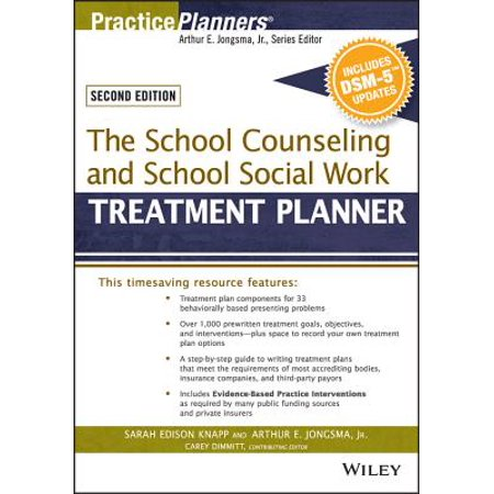 The School Counseling and School Social Work Treatment Planner, with Dsm-5 Updates, 2nd (Discovering Psychology With Dsm5 Update 6th Edition)