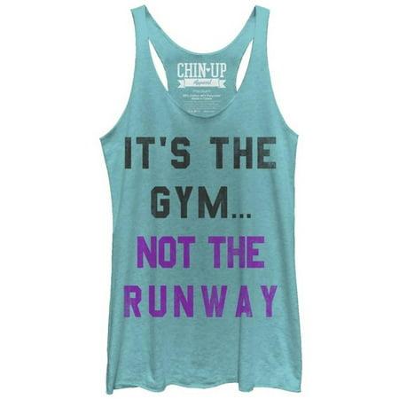 9e868eba81d7eb FIFTH SUN - Juniors Tank Top  Gym Not Runway Scoop Neck Apparel Womens Tank  Tops - Blue - Walmart.com