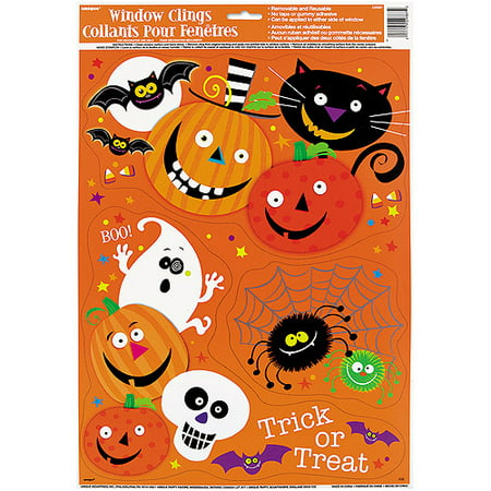 spooky smiles halloween window decals - Window Clings Halloween